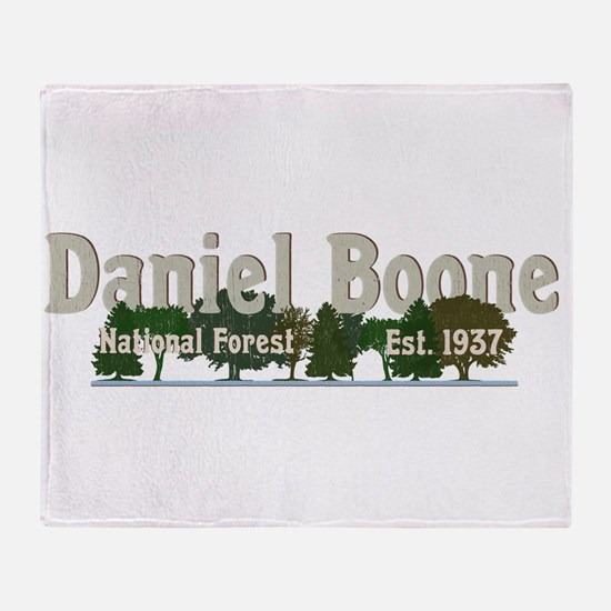 Vintage Daniel Boone National Forest Throw Blanket