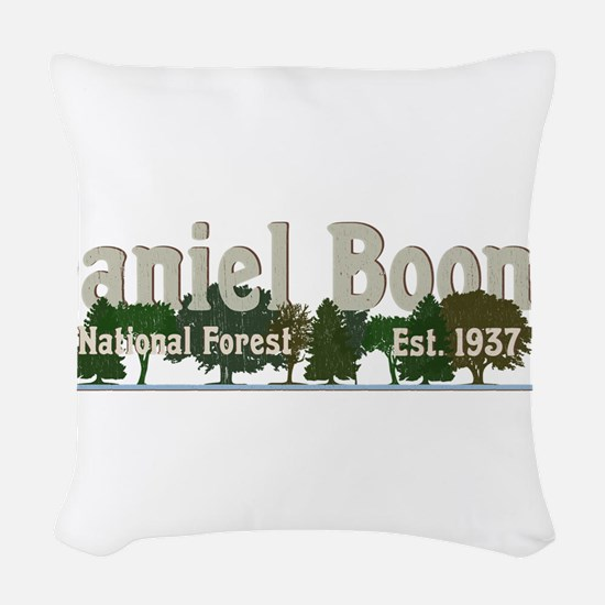 Vintage Daniel Boone National Woven Throw Pillow
