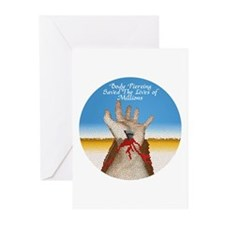 Body Piercing Saved Millions Greeting Cards (Packa