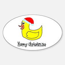 Senor Christmas Duckie Oval Decal