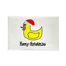 Senor Christmas Duckie Rectangle Magnet