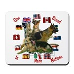 One breed, In many nations Mousepad