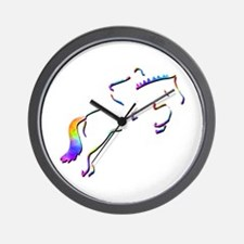 Show Jumping Wall Clock