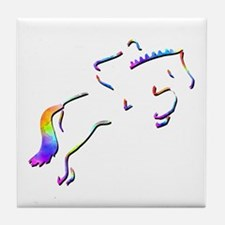 Show Jumping Picture Tile Coaster