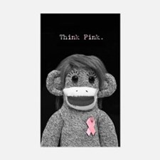 Think Pink Emma Sticker (Rectangle)