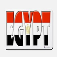 Word Art Flag of Egypt Mousepad