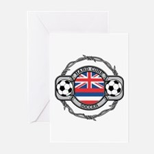 Hawaii Soccer Greeting Cards (Pk of 10)