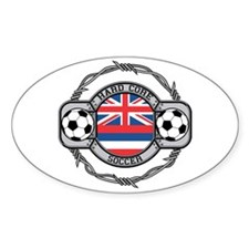 Hawaii Soccer Oval Decal