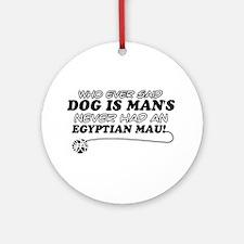 Egyptian Mau Cat Designs Ornament (Round)