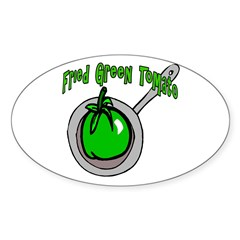 Fried Green Tomato Oval Decal