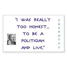 Politics - Rectangle Decal