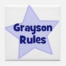 Grayson Rules Tile Coaster