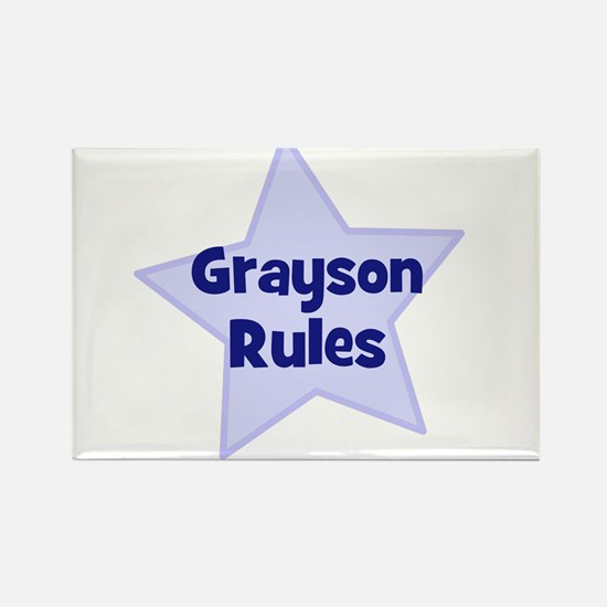 Grayson Rules Rectangle Magnet