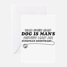 European Shorthair Cat Designs Greeting Card