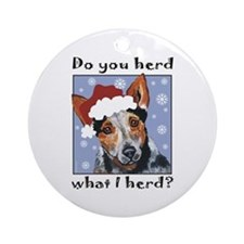 Red Heeler Do you Herd? Ornament (Round)