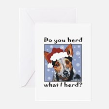 Red Heeler Do you Herd? Greeting Cards (Package of