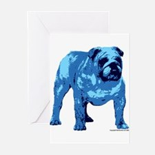 Blue Bulldog Design Greeting Cards (Pk of 10)