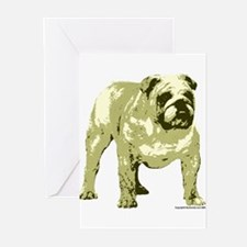 Brown Bulldog Design Greeting Cards (Pk of 10)