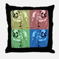 4 Tone Bulldog Design Throw Pillow