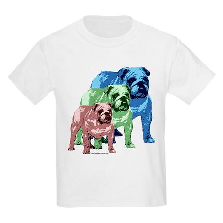 3 Color Bulldogs Design Kids T-Shirt