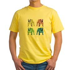 4 Color Bulldog Design T