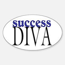 Success Diva Oval Decal
