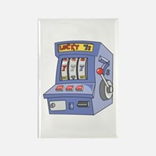 Slot Machine Rectangle Magnet