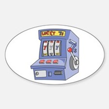 Slot Machine Oval Decal
