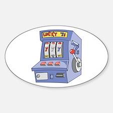 Slot Machine Oval Decal