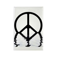 Peace Sign Sinking Rectangle Magnet