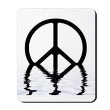 Peace Sign Sinking Mousepad