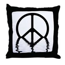 Peace Sign Sinking Throw Pillow