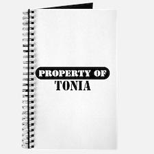 Property of Tonia Journal