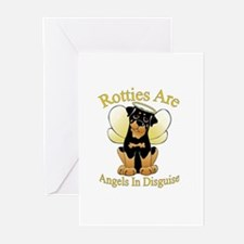 My Rottie is an Angel Greeting Cards (Pk of 10