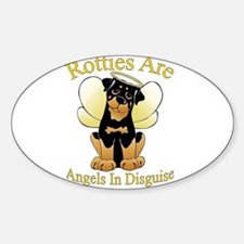 My Rottie is an Angel Oval Decal