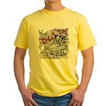 Brick Wall Bully Design Yellow T-Shirt