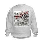 Brick Wall Bully Design Kids Sweatshirt
