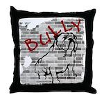 Brick Wall Bully Design Throw Pillow