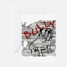 Brick Wall Bully Design Greeting Cards (Package of