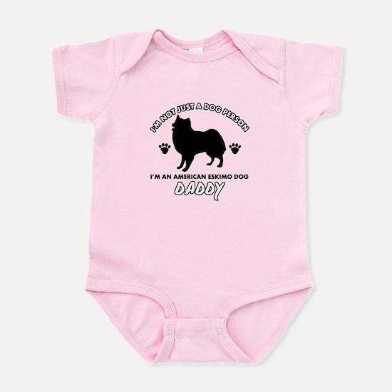 American Eskimo Dog Daddy designs Infant Bodysuit