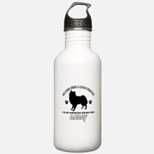 American Eskimo Dog Daddy designs Water Bottle