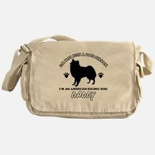 American Eskimo Dog Daddy designs Messenger Bag