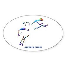 Steeple Chase Oval Decal