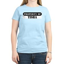 Property of Tisha Women's Pink T-Shirt