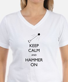Women's Keep Calm and Hammer On - V-Neck T-Shirt