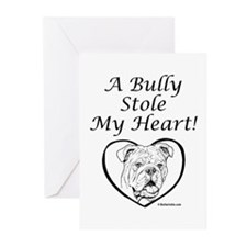 """""""My Heart"""" Black Greeting Cards (Pk of 10)"""