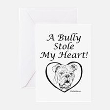 """My Heart"" Black Greeting Cards (Pk of 10)"