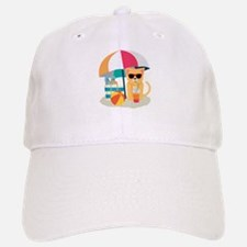 Cute Cool Cat at the beach Baseball Baseball Cap