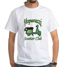 Club Design for Vesparazzi White T-shirt