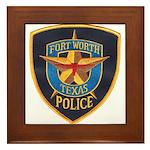 Fort Worth Police Framed Tile